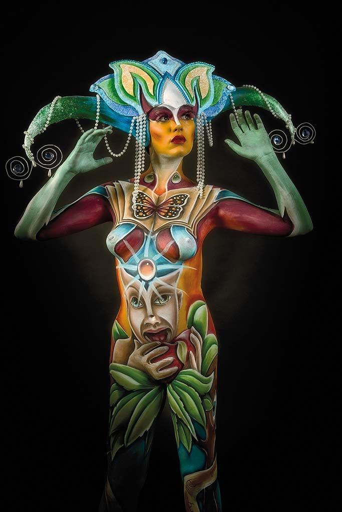 Bodypainter, Pittrice, Pitture murali | Marzia Bedeschi: italian body festival 2015
