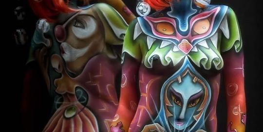 Bodypainter, Pittrice, Pitture murali | Marzia Bedeschi: World bodypainting festival 2 luglio 2015
