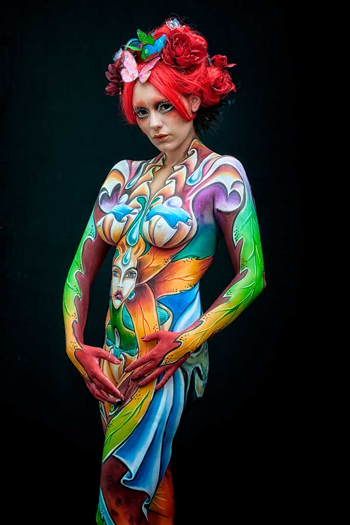Bodypainter, Pittrice, Pitture murali | Marzia Bedeschi: Campionato mondiale 2016 - 3° place