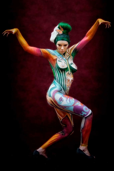 Bodypainter, Pittrice, Pitture murali | Marzia Bedeschi: World Bodypainting Festival 2016 - 4° place