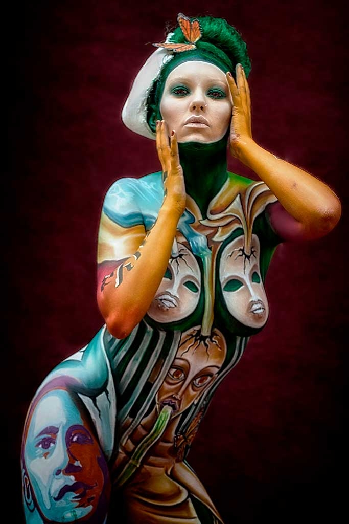 Bodypainter, Pittrice, Pitture murali | Marzia Bedeschi: World Bodypainting Festival 2016 - 4° place