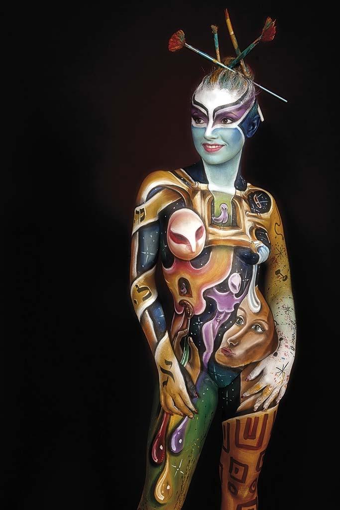 Bodypainter, Pittrice, Pitture murali   Marzia Bedeschi: il magico mondo dell'arte