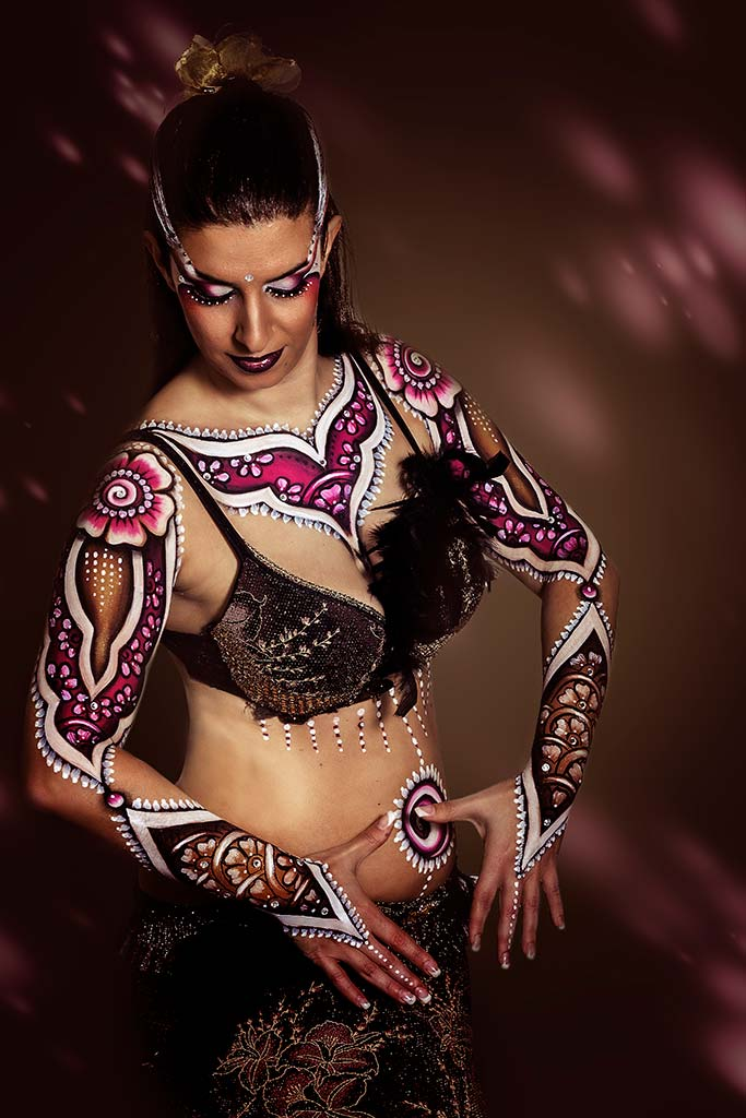Bodypainter, Pittrice, Pitture murali | Marzia Bedeschi: Oriental Style