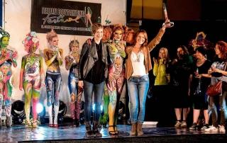 Bodypainter, Pittrice, Pitture murali | Marzia Bedeschi: premiazione campionato italiano body painting 2016 - 1° place