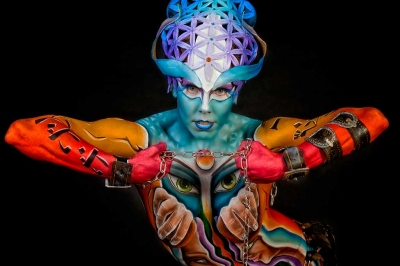 Bodypainter, Pittrice, Pitture murali | Marzia Bedeschi: Rabarama Skinart Festival 2015