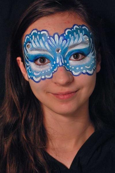 Facepainting, Bodypainting, BodyArt | Marzia Bedeschi - blue eye mask
