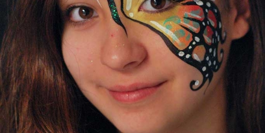 Facepainting, Bodypainting, BodyArt | Marzia Bedeschi - one side butterfly