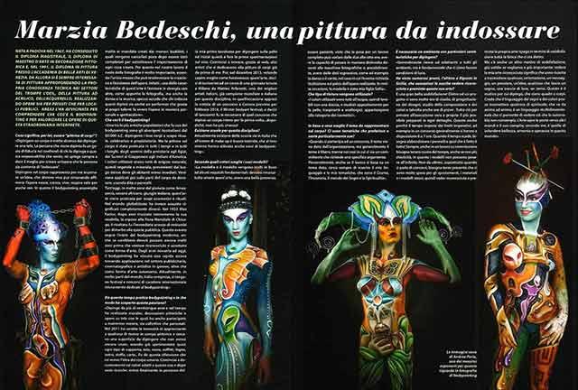 Bodypainter, Pittrice, Pitture murali   Marzia Bedeschi: AREA 3