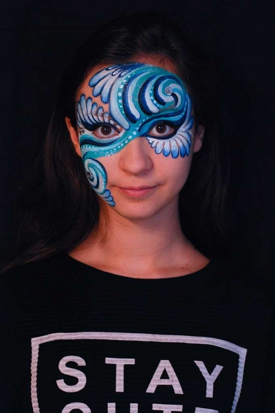 Facepainting, Bodypainting, BodyArt | Marzia Bedeschi - Blue Wave