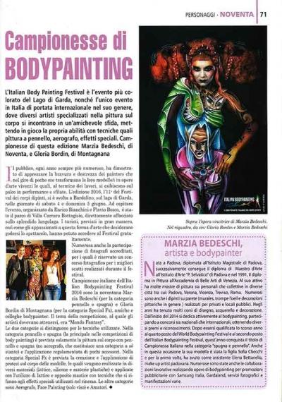 Bodypainter, Pittrice, Pitture murali | Marzia Bedeschi: IL BASSO VICENTINO