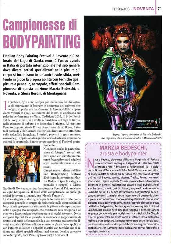 Bodypainter, Pittrice, Pitture murali   Marzia Bedeschi: IL BASSO VICENTINO