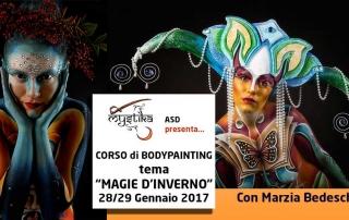 Bodypainter, Pittrice, Pitture murali | Marzia Bedeschi: magie d'inverno
