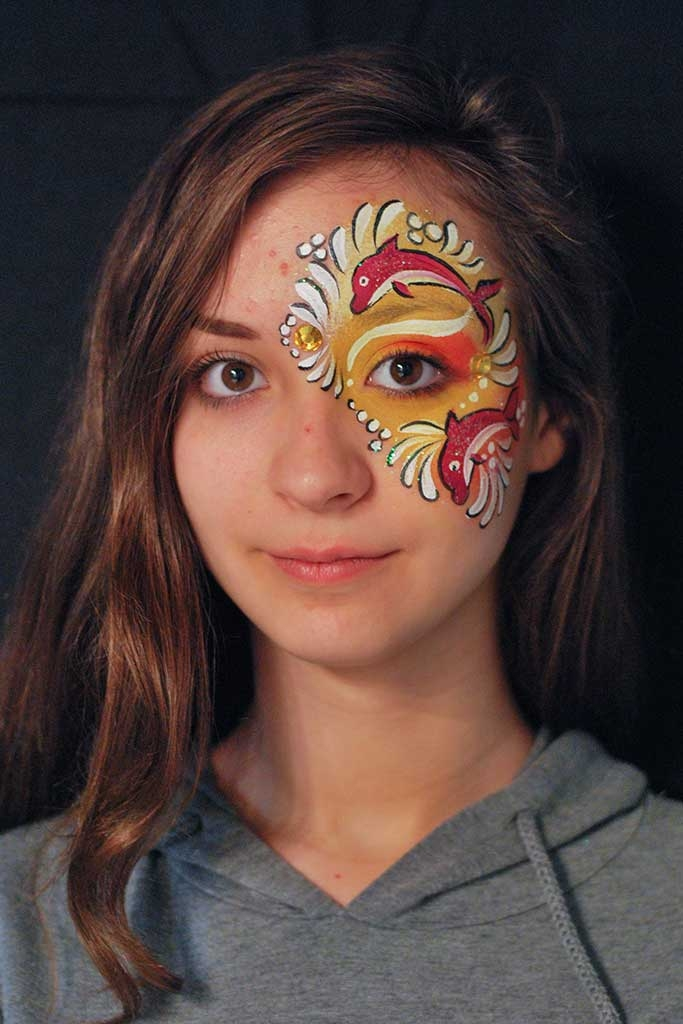 Facepainting, Bodypainting, BodyArt | Marzia Bedeschi - Red Dolphins