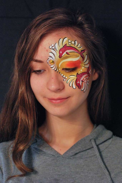 Facepainting, Bodypainting, BodyArt | Marzia Bedeschi - Red Dolphins