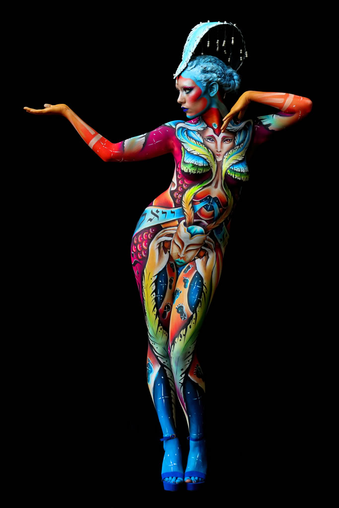 I Had A Dream Body Painting Body Art Face Painting Marzia Bedeschi