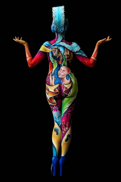 Bodypainter, Pittrice, Pitture murali | Marzia Bedeschi: World Bodypainting Festival 2018 - 1° place