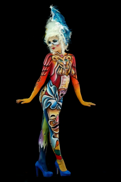 Bodypainter, Pittrice, Pitture murali | Marzia Bedeschi: World Bodypainting Festival 2017 - 2° place